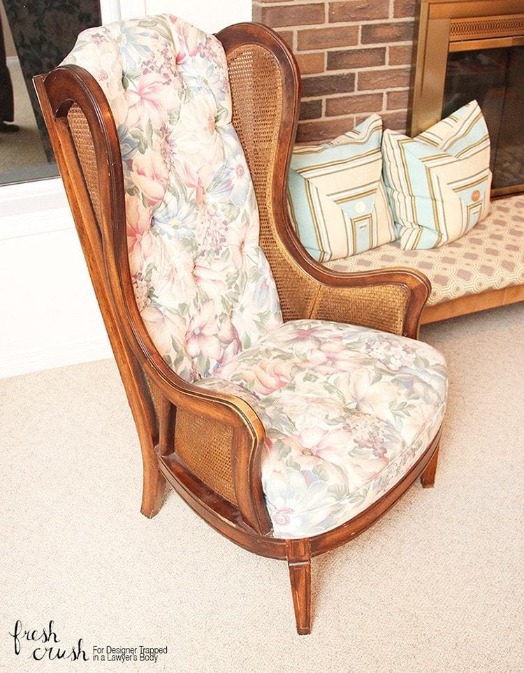 fabric high chair tutorial