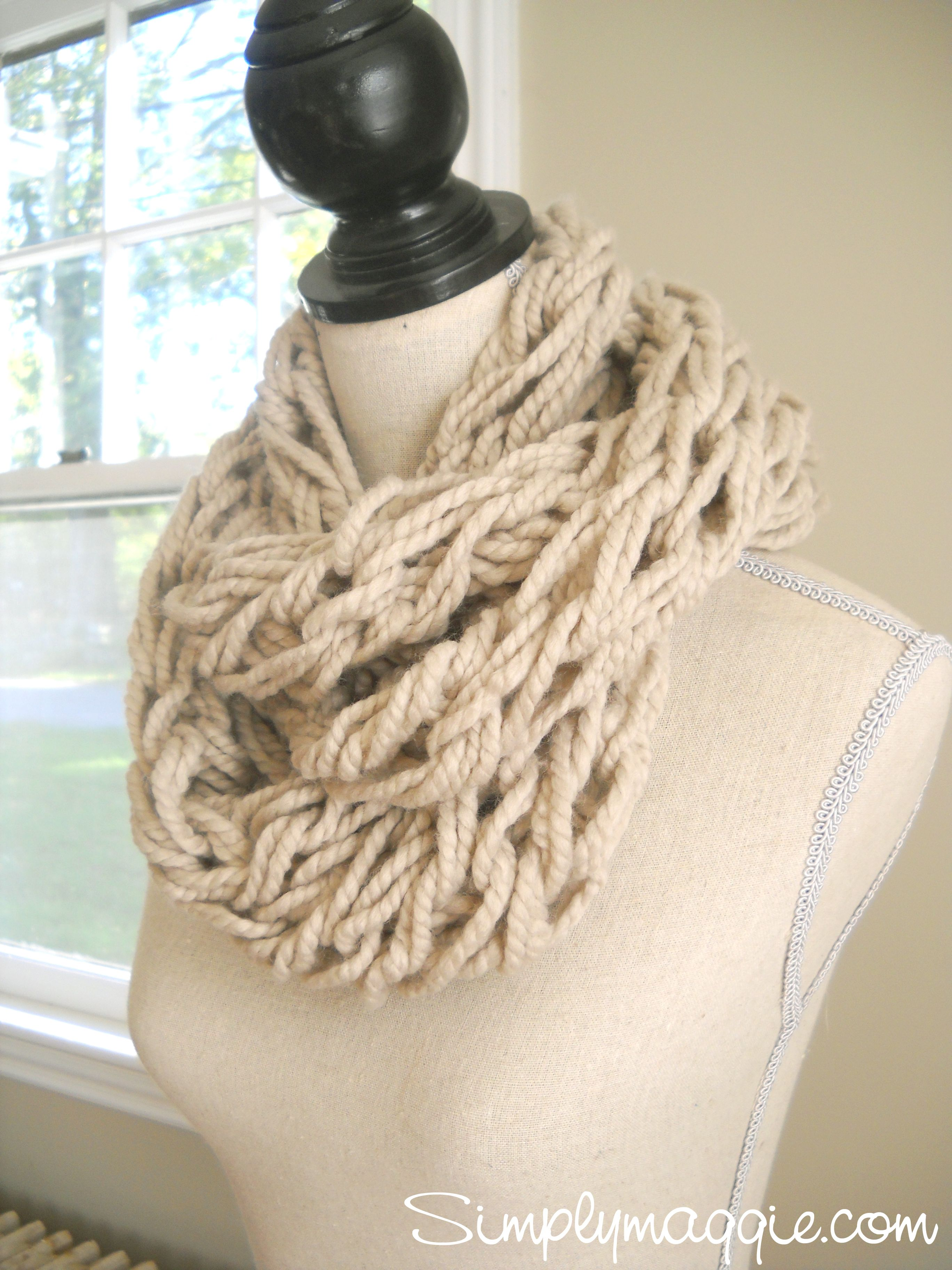 hand knitting scarf tutorial