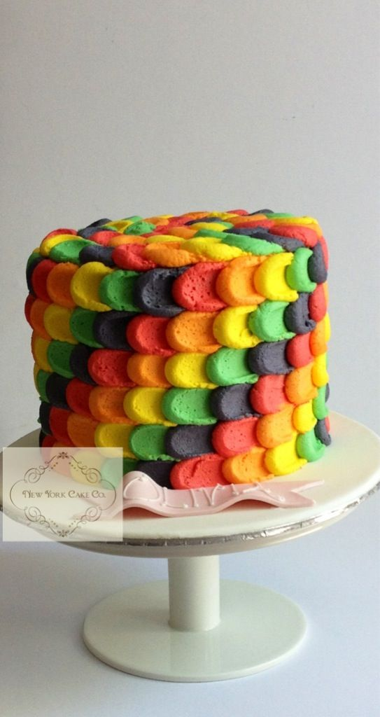 rainbow marble cake tutorial