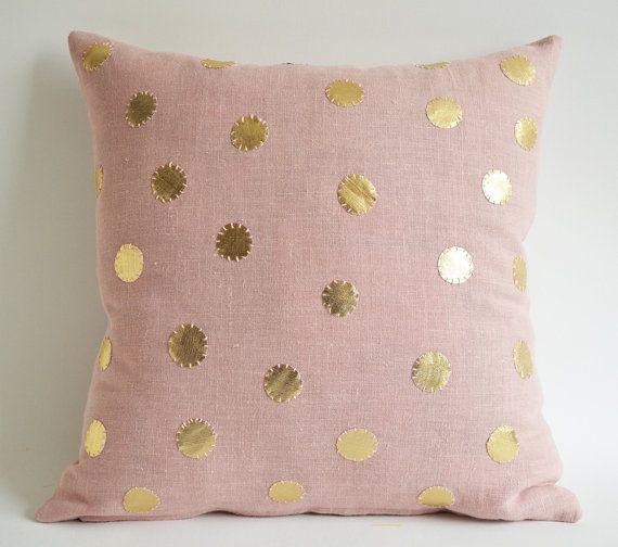 pink and polka dot slipcover tutorial