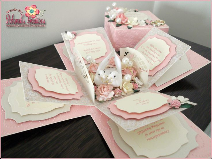 exploding box invitation tutorial