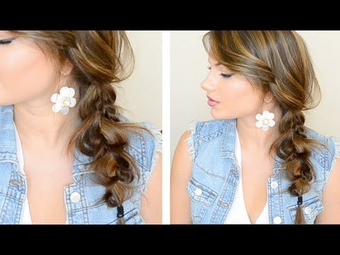 loose side braid tutorial