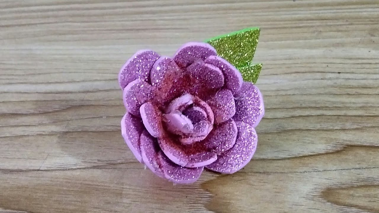 foam sheet flower tutorial