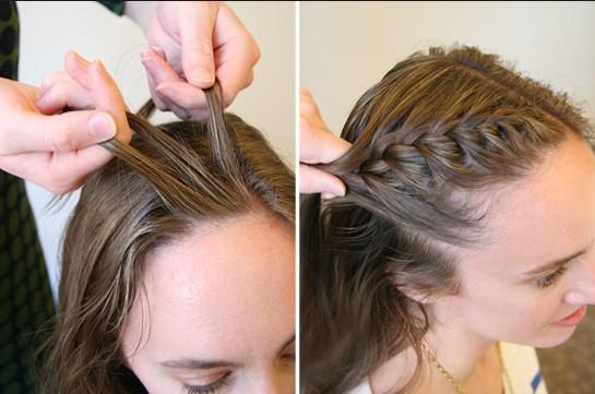 side bang braid tutorial