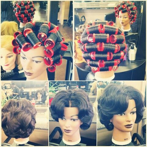 pin curl hair tutorial