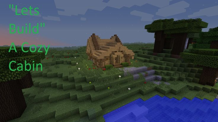 minecraft log cabin tutorial