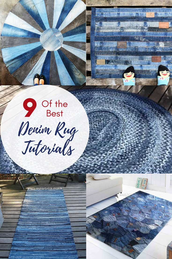 denim rag rug tutorial
