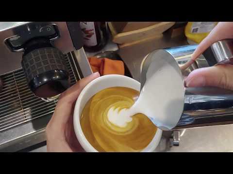 latte art tulip tutorial