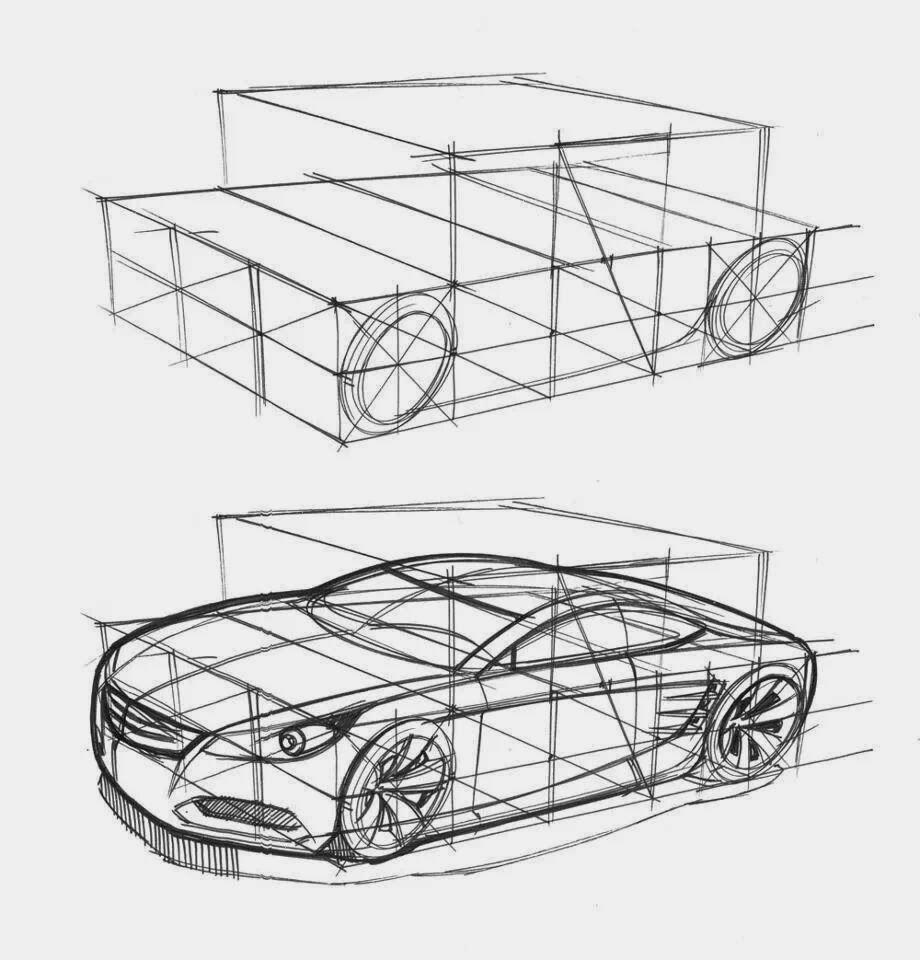 car perspective drawing tutorial