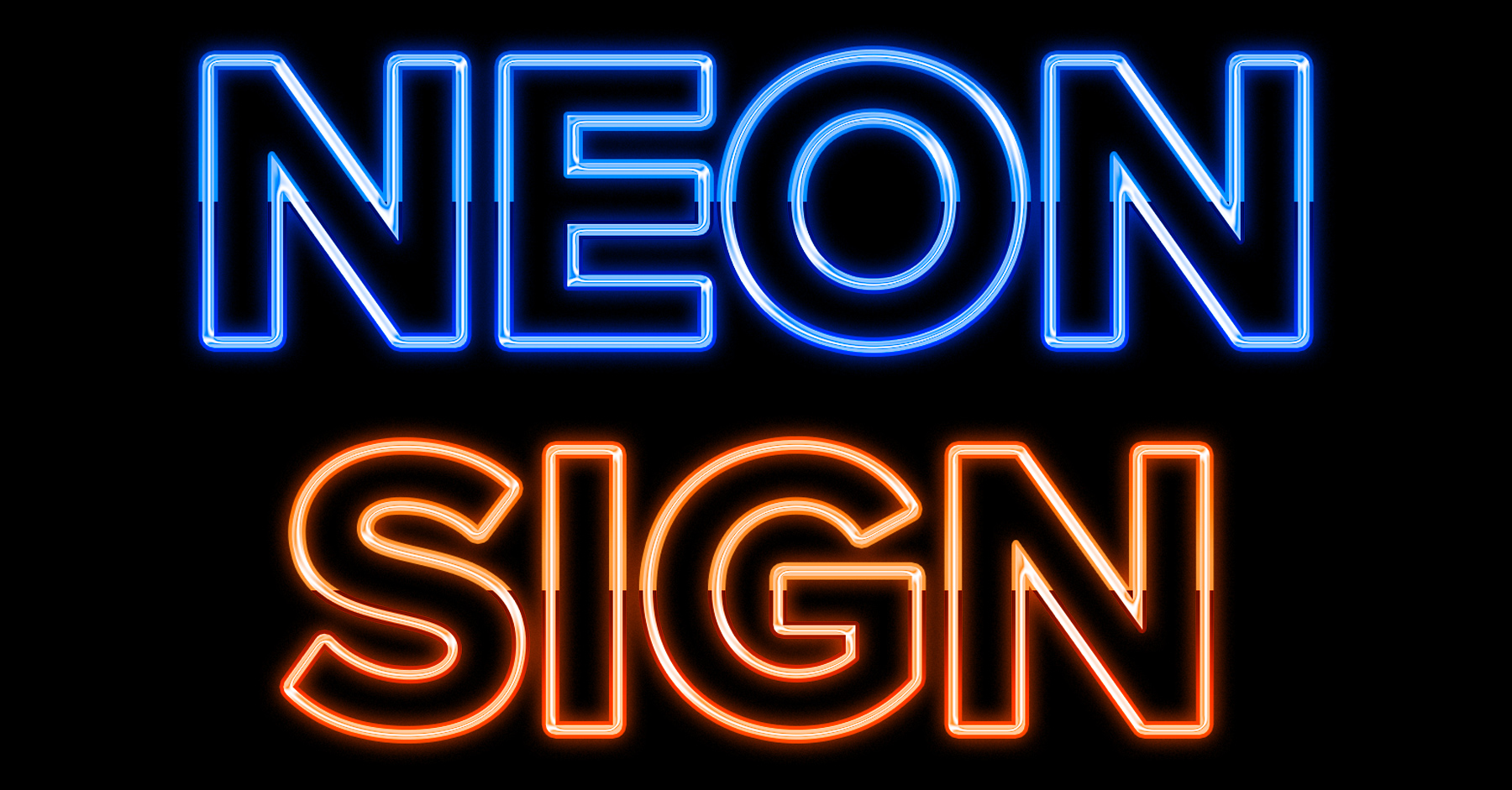 neon text photoshop tutorial