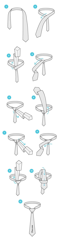 windsor tie knot tutorial