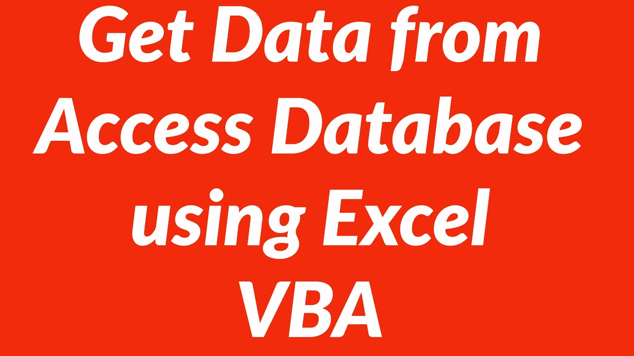 access 2010 vba tutorial