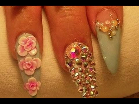 acrylic nail art tutorial