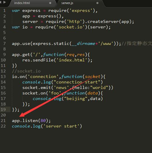 node js express socket io tutorial