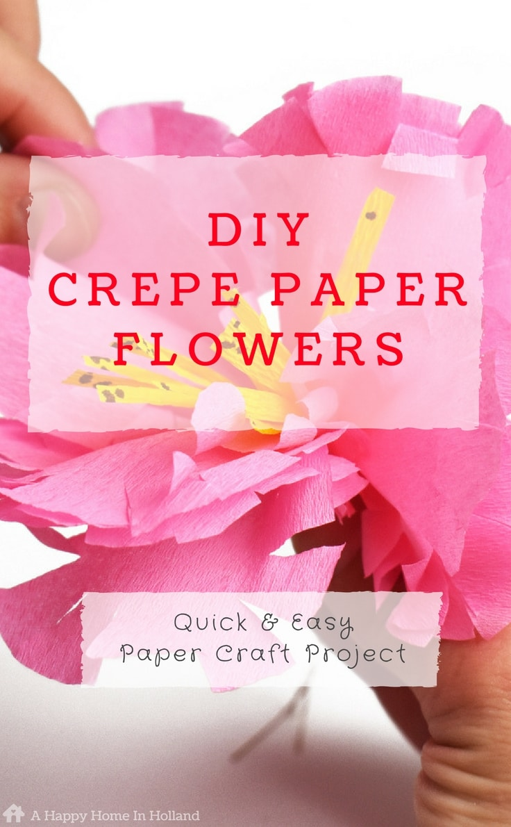 crepe paper flowers tutorial