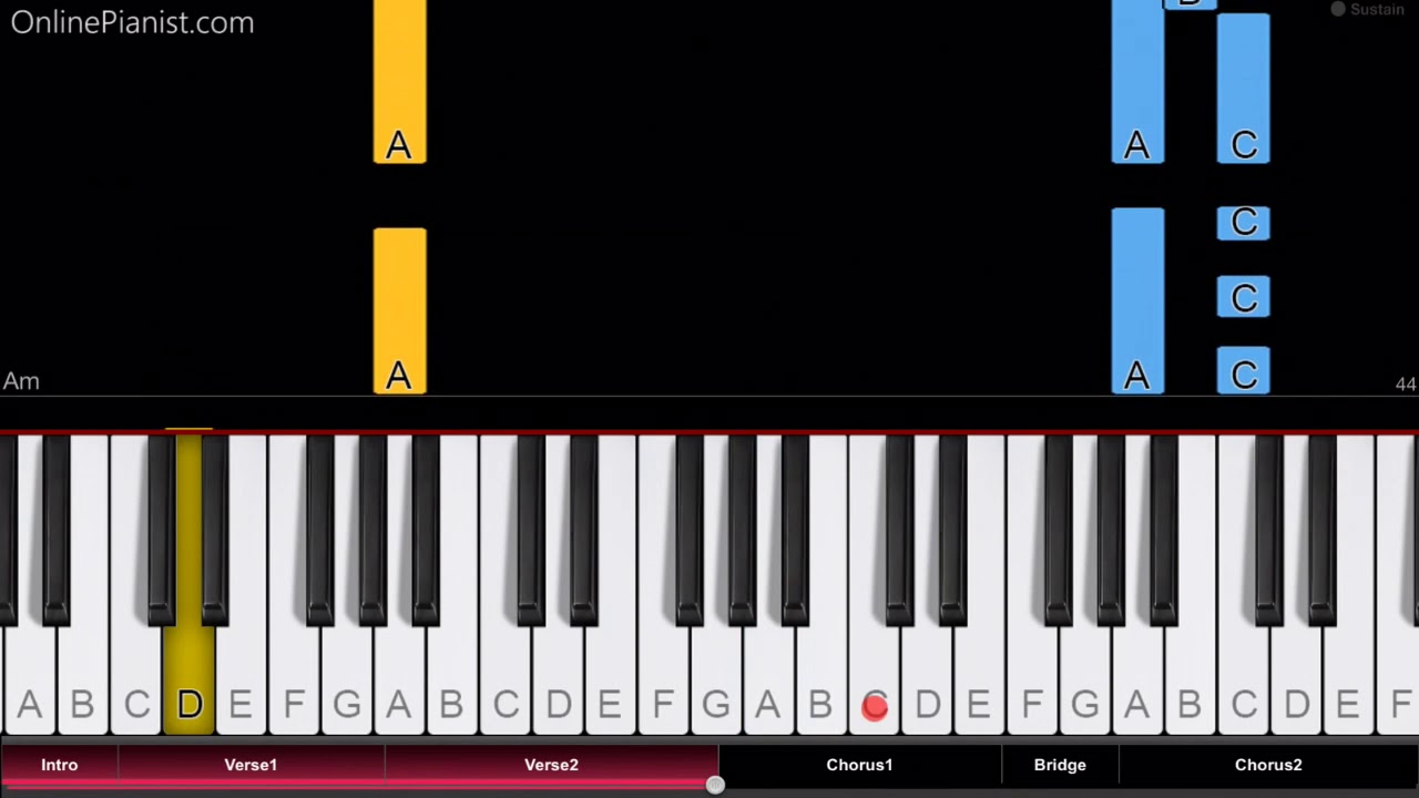 all star piano tutorial
