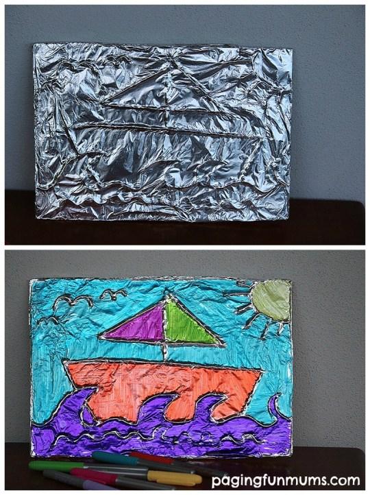 aluminium foil craft tutorial