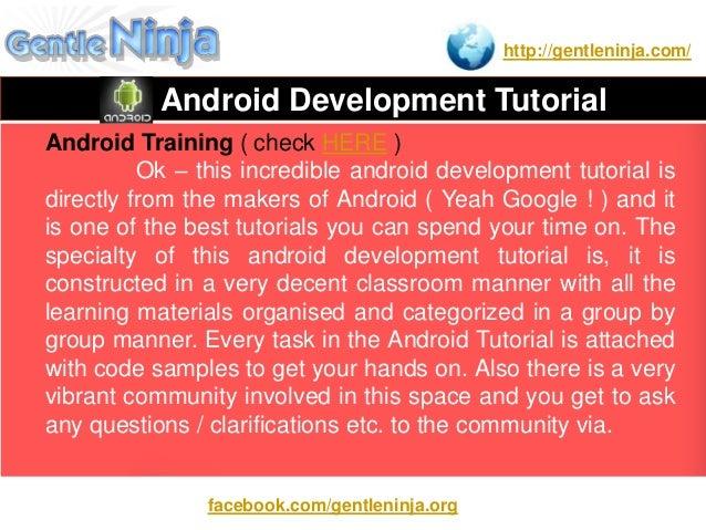 android app development tutorial beginner