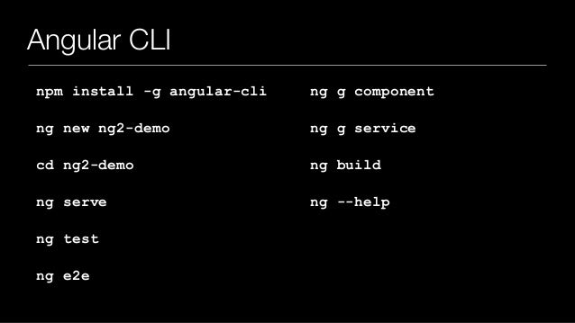 angular 2 cli tutorial
