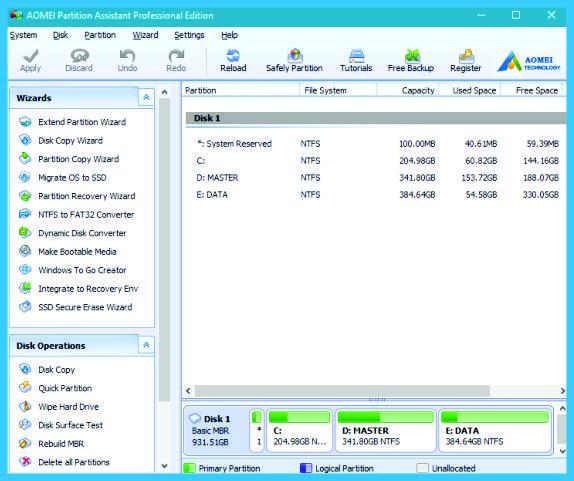 aomei partition assistant tutorial