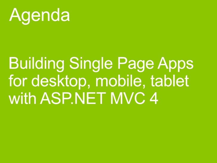 asp net mvc single page application tutorial