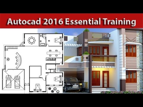 autocad house plan tutorial