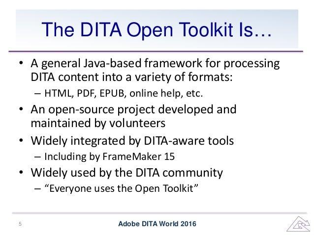 dita open toolkit tutorial