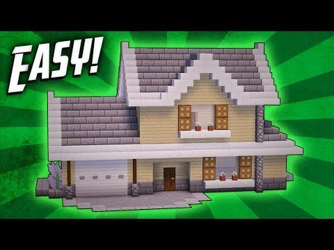 minecraft easy modern house tutorial