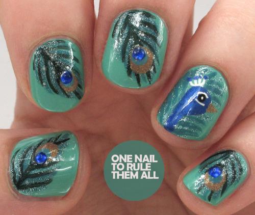 feather nail art tutorial
