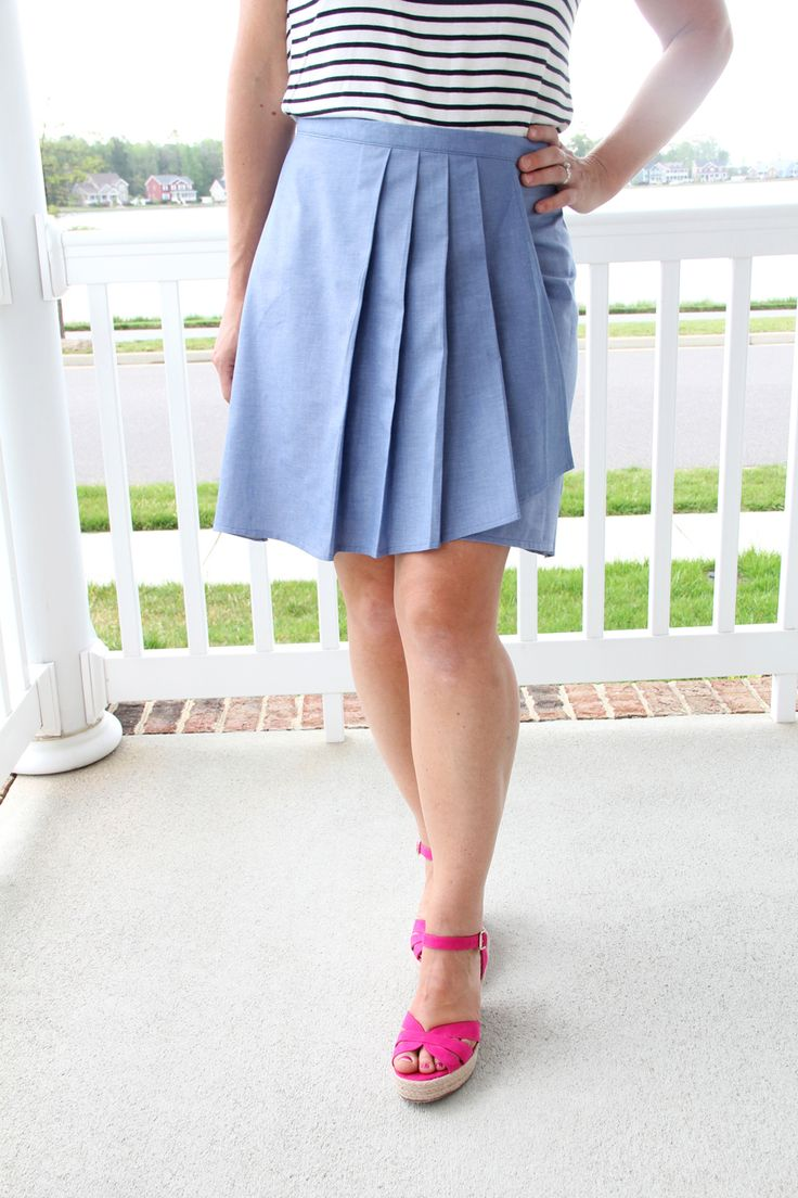 wrap skirt tutorial easy