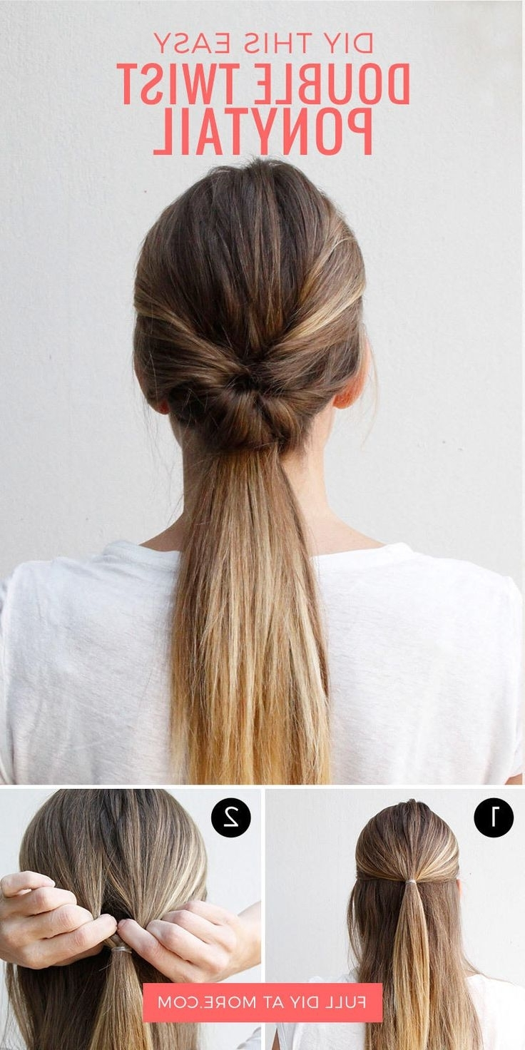 easy updos for long straight hair tutorial