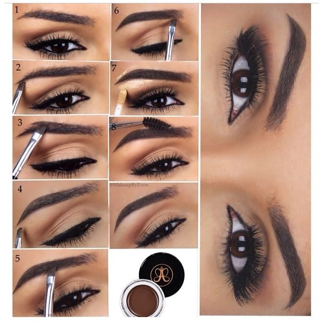 anastasia eyebrows tutorial step by step