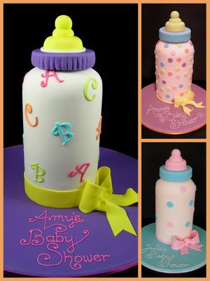 baby bottle cake tutorial