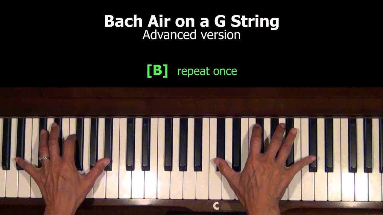 bach air piano tutorial