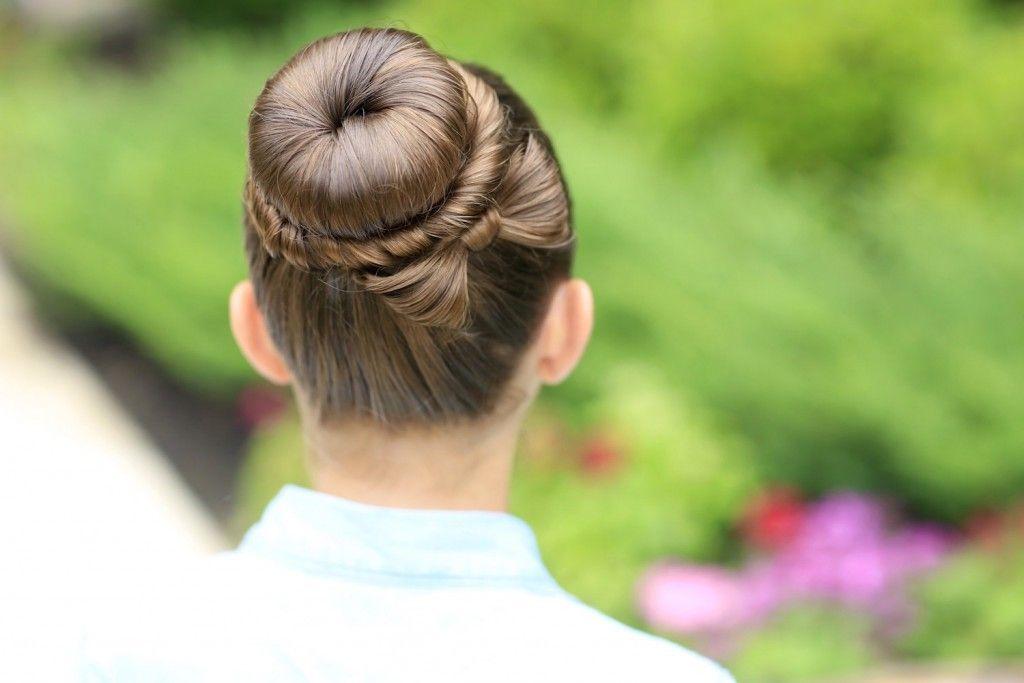 ballet bun tutorial for long hair