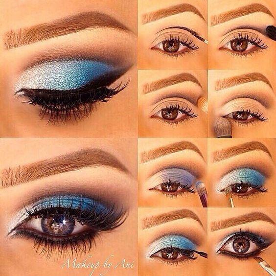 eyeshadow tutorial step by step pictures