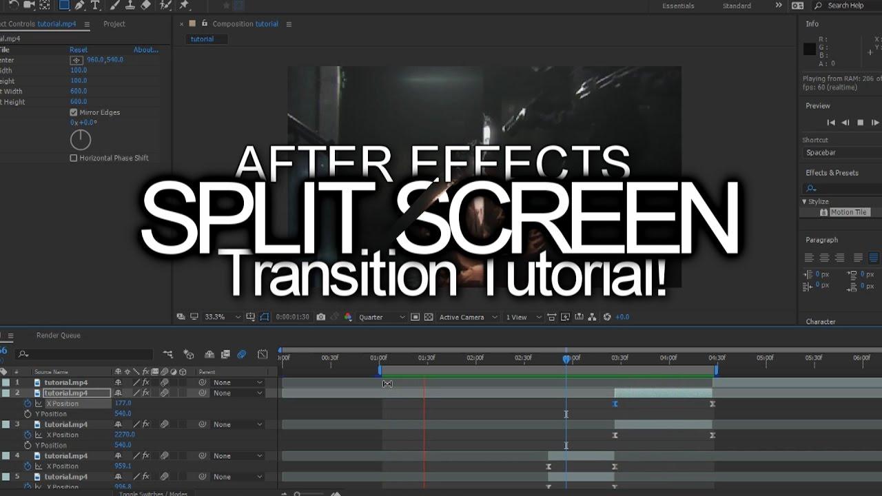 after effects split screen tutorial
