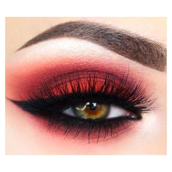 red eye makeup tutorial