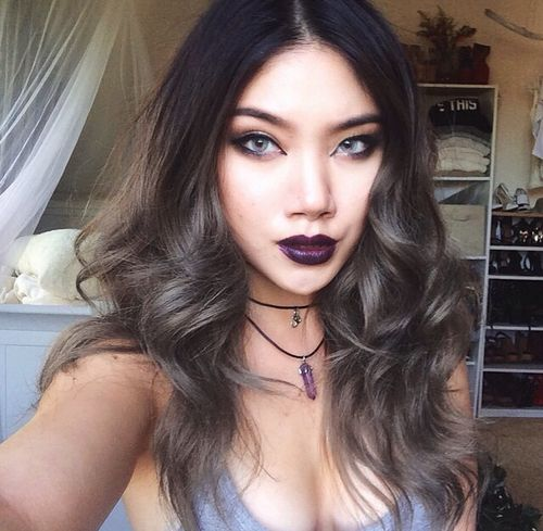 black to silver ombre hair tutorial