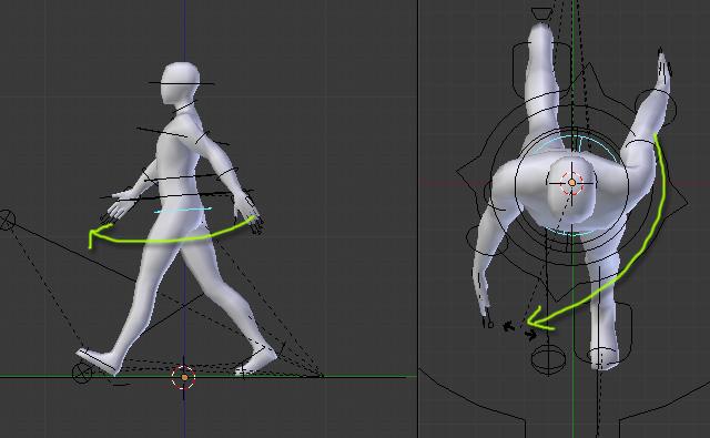 blender walking animation tutorial