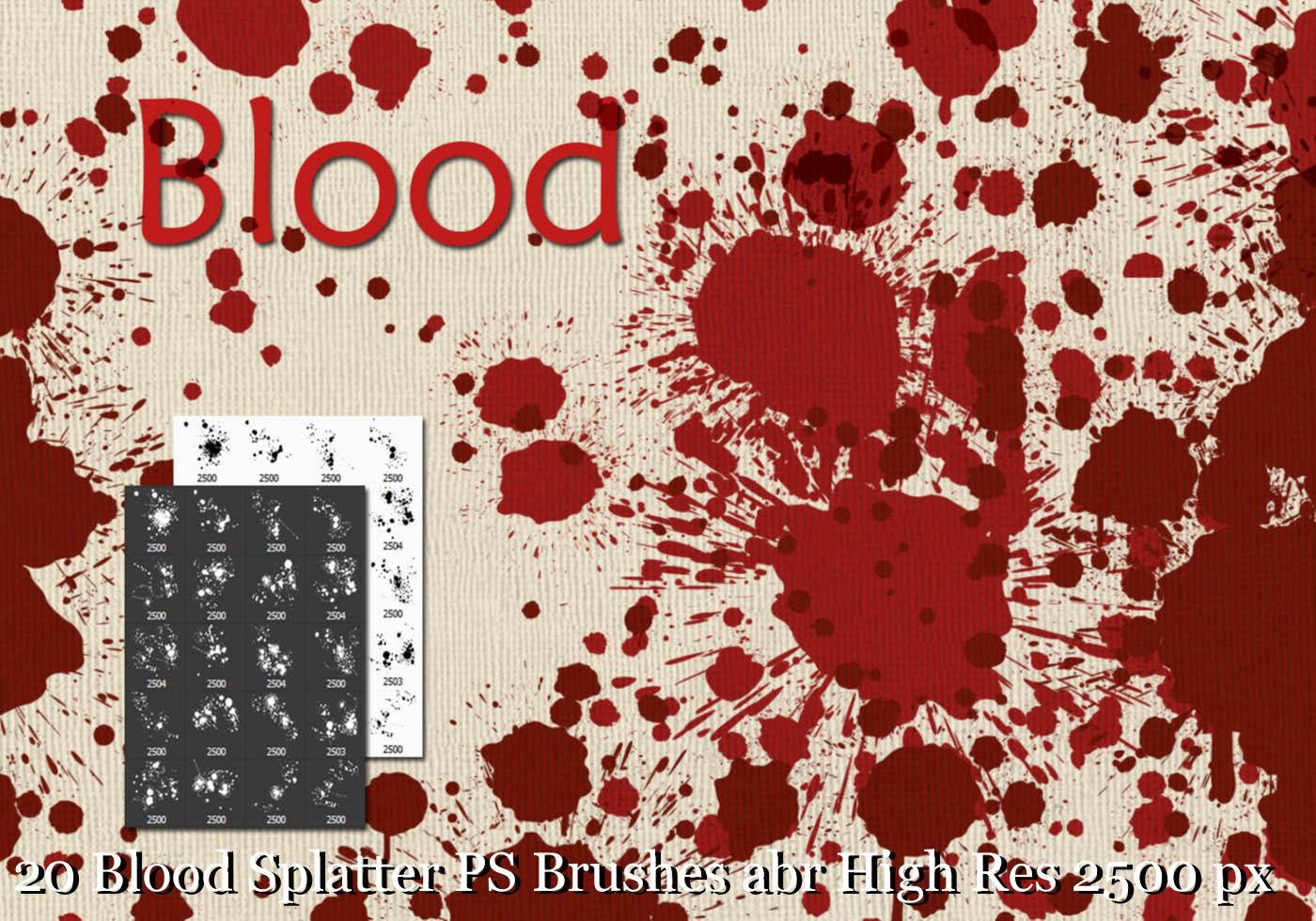blood splatter photoshop tutorial