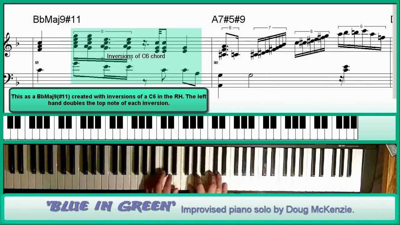blue in green piano tutorial