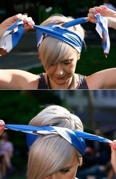 boho head wrap tutorial