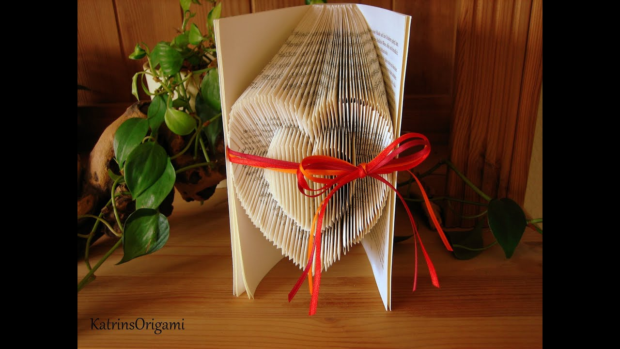 book folding tutorial youtube
