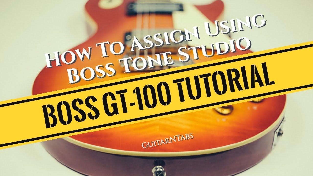 boss tone studio tutorial