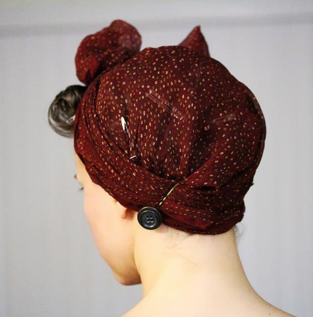 bow head wrap tutorial