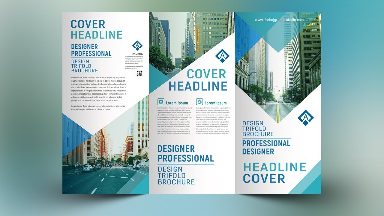 brochure design tutorial in photoshop