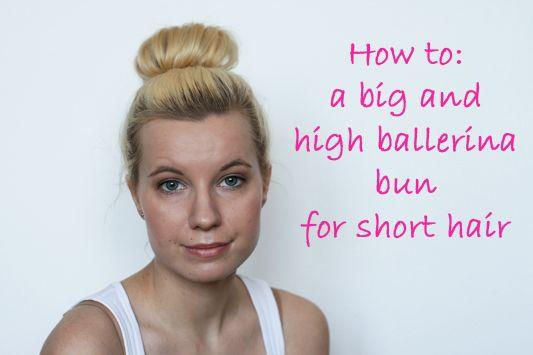 bun tutorial for medium hair