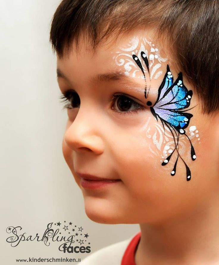 butterfly face paint tutorial